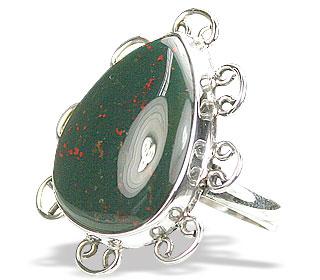Design 15751: green bloodstone rings