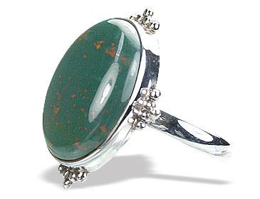 Design 15752: green bloodstone rings