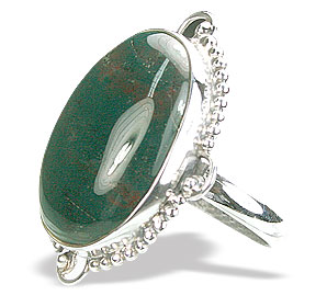 Design 15754: green bloodstone rings