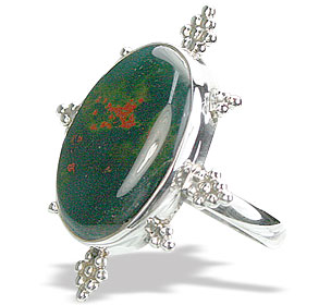 Design 15755: green bloodstone rings