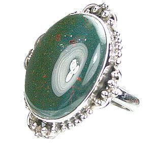 Design 15756: green bloodstone rings