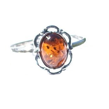 Design 15794: orange amber flower rings