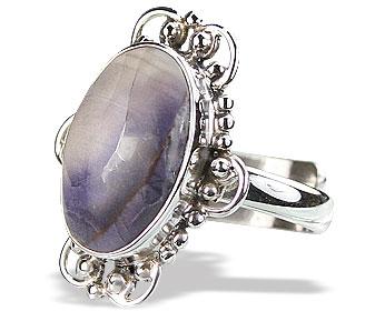 Design 15841: blue,white tiffany stone adjustable rings