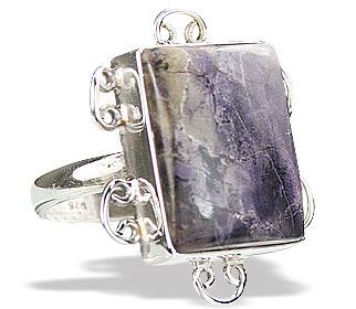 Design 15843: blue,white tiffany stone contemporary rings