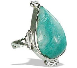 Design 15936: green turquoise classic rings