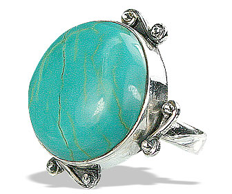 Design 15937: green turquoise classic rings