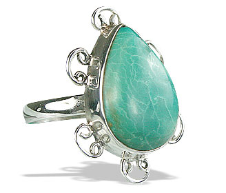 Design 15944: green turquoise cocktail rings