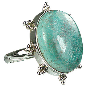 Design 15949: green turquoise cocktail rings