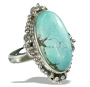 Design 15950: green turquoise cocktail rings