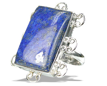 Design 15951: green lapis lazuli classic rings