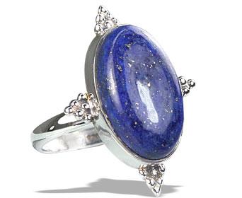 Design 15961: blue lapis lazuli classic rings