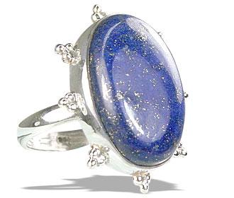 Design 15969: blue lapis lazuli classic rings