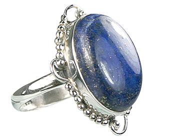 Design 15972: blue lapis lazuli classic rings