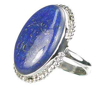 Design 15973: blue lapis lazuli contemporary rings