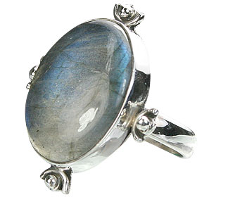Design 15989: black,blue labradorite contemporary rings