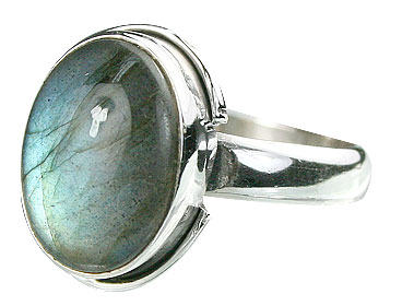 Design 15997: black,blue labradorite contemporary rings