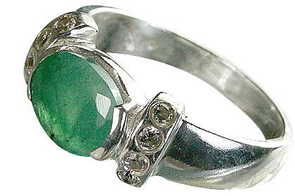 Design 16185: green,white emerald rings