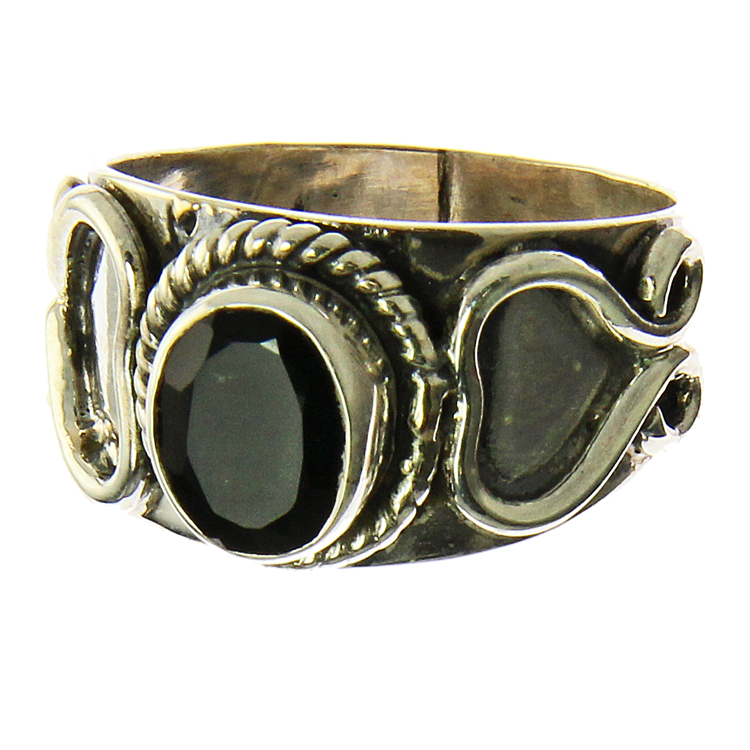 Design 21004: black onyx rings