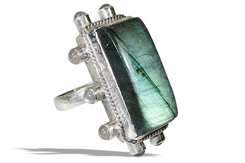 Design 5977: blue labradorite rings