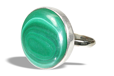 Design 7209: green malachite american-southwest rings