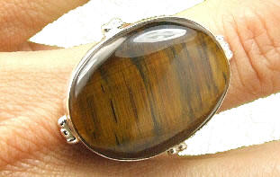 Design 7213: brown tiger eye american-southwest, mens rings