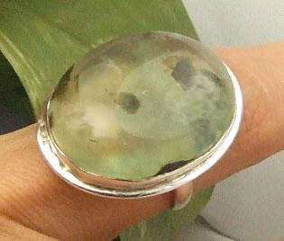Design 7221: green prehnite rings