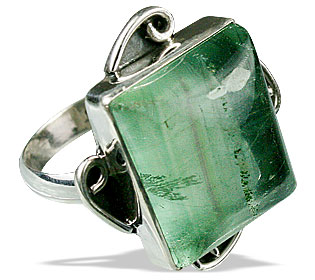 Design 7222: green fluorite rings