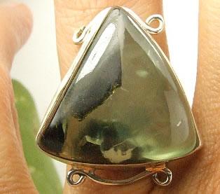 Design 7226: green prehnite american-southwest, mens rings
