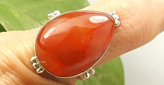 Design 7227: orange carnelian drop rings