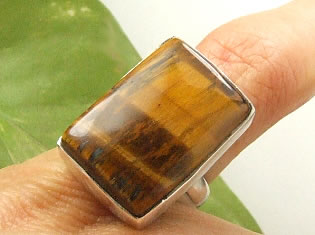 Design 7230: brown tiger eye american-southwest rings