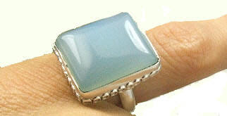 Design 7235: blue chalcedony rings