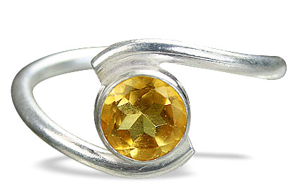 Design 7242: yellow citrine solitaire rings
