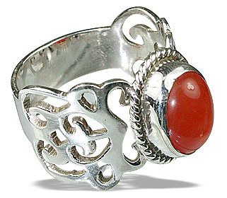 Design 8168: orange,red carnelian gothic-medieval rings