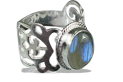 Design 8282: blue,green,gray labradorite gothic-medieval rings