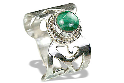 Design 8286: green malachite rings
