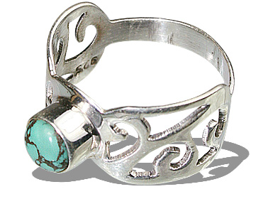 Design 8287: blue,multi-color turquoise gothic-medieval rings