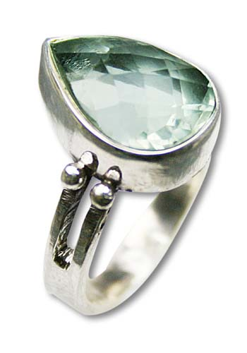 Design 8300: green green amethyst solitaire rings