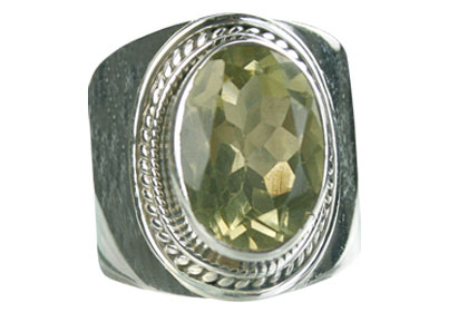 Design 8316: yellow lemon quartz gothic-medieval rings