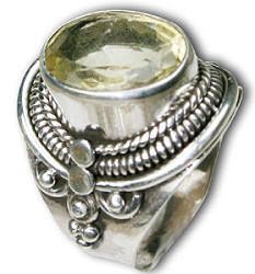 Design 8317: yellow lemon quartz gothic-medieval, mens rings