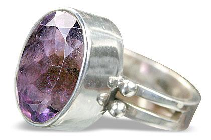 Design 8328: purple amethyst solitaire rings