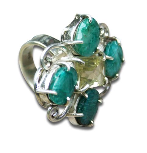 Design 8351: blue,multi-color turquoise art-deco rings