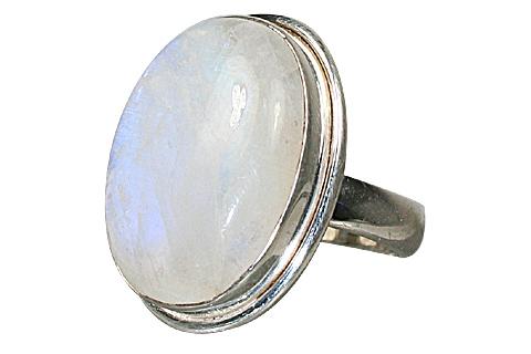 Design 8478: white moonstone rings