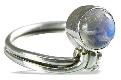 Design 8479: white moonstone rings