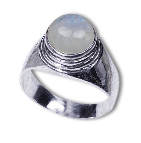 Design 8480: white moonstone rings
