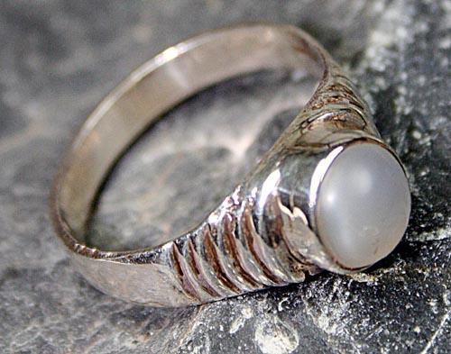 Design 8482: white moonstone rings