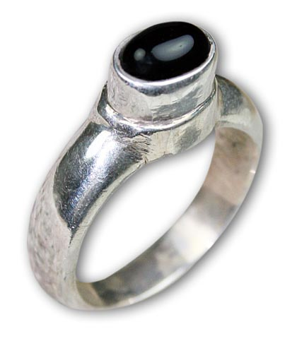 Design 8520: black onyx rings