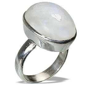 Design 8522: white moonstone rings