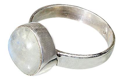 Design 8529: white moonstone rings