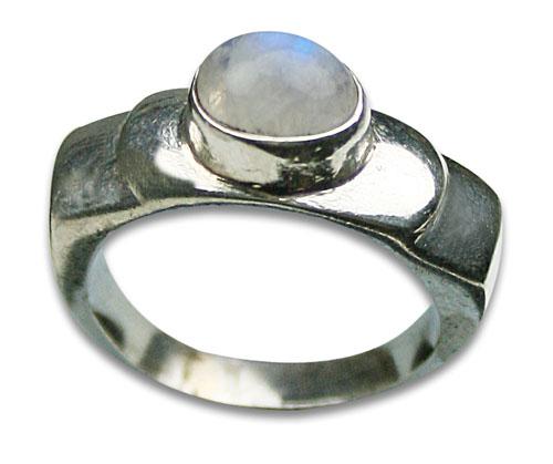Design 8530: white moonstone rings