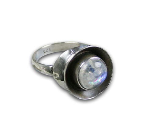 Design 8563: white moonstone rings